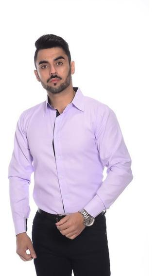 Camisa Social Masculina Slim Alta Moda Camiseta Slim Promoção