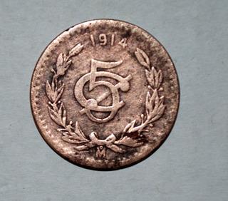 Moneda Antigua Mexicana Del Año 1914