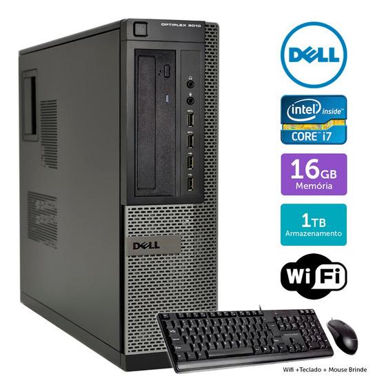 Desktop Barato Dell Optiplex 9010int I7 16gb 1tb Brinde