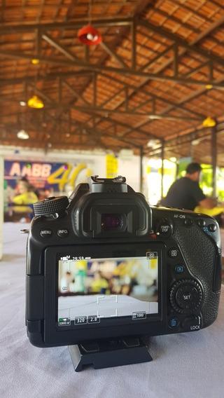 Câmera Canon 80d + Lente 50mm + 3 Baterias
