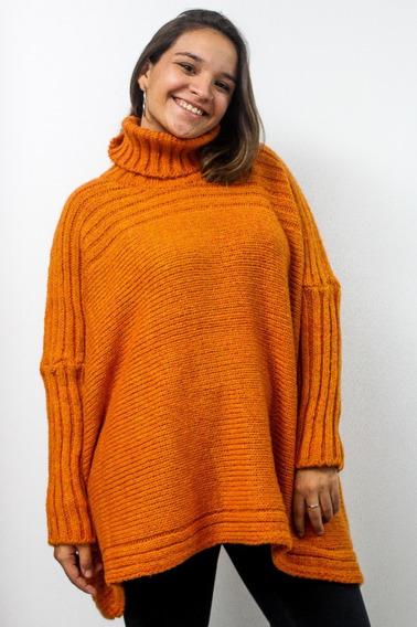 Sweater Mujer Dama Poleron Amplio Lana Premium Invierno