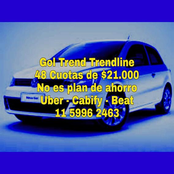 Volkswagen Gol Trend Anticipo $485.000 T- 0% Te=11-5996-2463