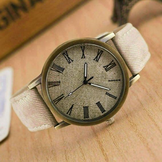 Relógio De Pulso Jeans Menino Menina Criança Adolescente 149