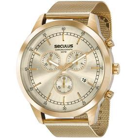 Relógio Masculino Seculus 20606gpsvda1 Dourado