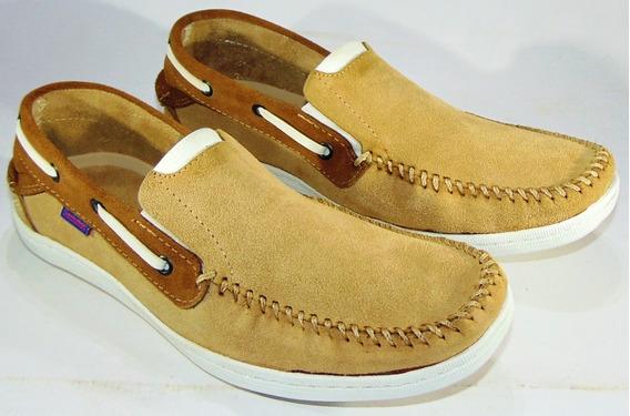 Zapatos Sommet Cuero Gamuza Vacuno Cosidos Y Pegados Art 105