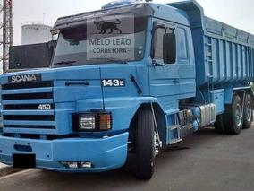 Scania T-143 E 450 6x4 - 95/95 - Caçamba, Cabine Leito