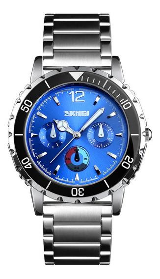 Estilo De Negócios Aço Inoxidável Ponteiro Luminoso Relógios