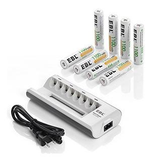 Ebl Aa - Cargador De Bateria Recargable Aaa Con Pilas Recarg