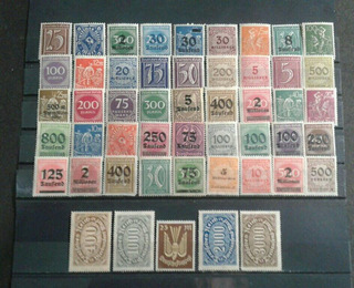 Alemania 50 Estampillas Dif Mint 1920-1922 Inflación Lot 2