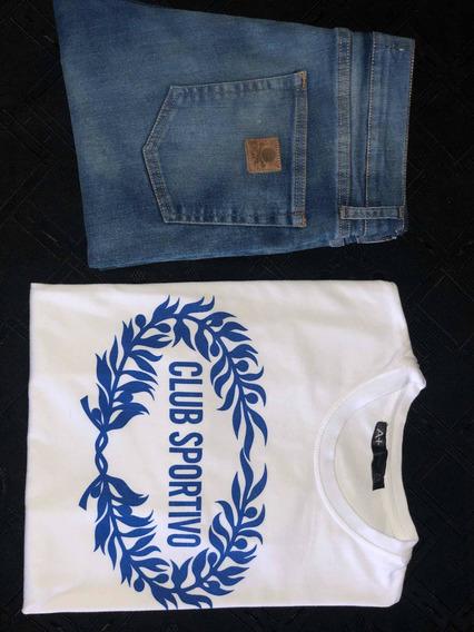 Combo Remera Jeans A+ Refans. No Gola Burgues Bensimon Aynot