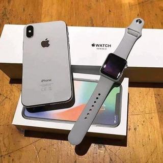 Apple iPhone X 256gb + Apple Watch