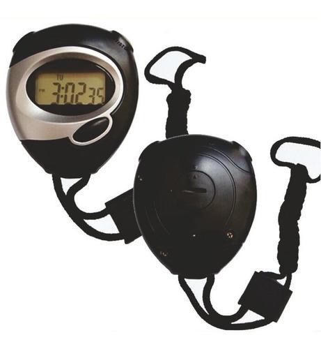Cronômetro Digital Com Relogios, Data E Cordao