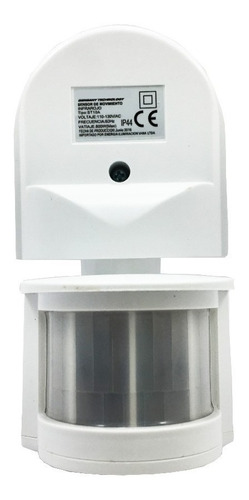 Sensor De Movimiento Pared Exterior 180° Infrarojo Graduable