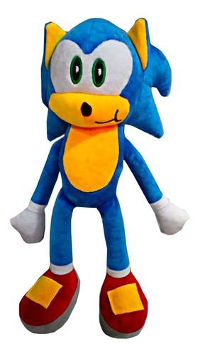 Peluche Muñeco Sonic 42cm Alto Felpa Suave Grande