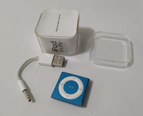 iPod Shuffle 4 Azul Caixa 2gb Cabo - Usado (parcelado) Xf4rw