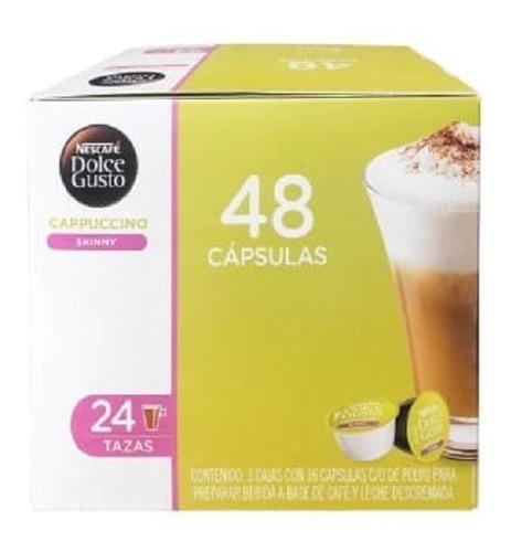 Imagen 1 de 3 de Cápsulas De Café Dolce Gusto Nescafé Capuccino Skinny 48 Pza