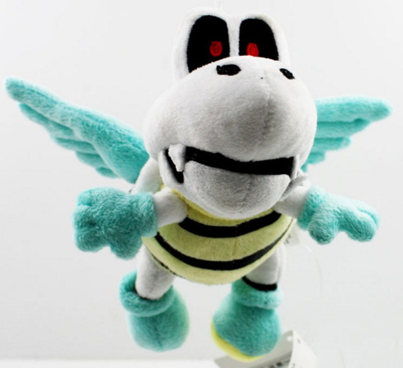 Pelúcia Tartaruga Voadora Fly Dry Bones 16 Cms - Mario Bros