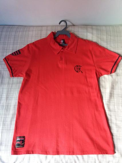 Camisa Polo Do Flamengo Vermelha - Braziline - Tamanho M