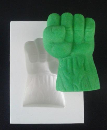 Imagem 1 de 1 de Molde De Silicone Mao Do Hulk Pasta Americana E Biscuit
