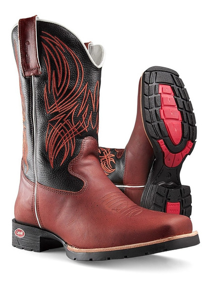 Bota Country Masculina Bico Quadrado Branca Capelli Boots