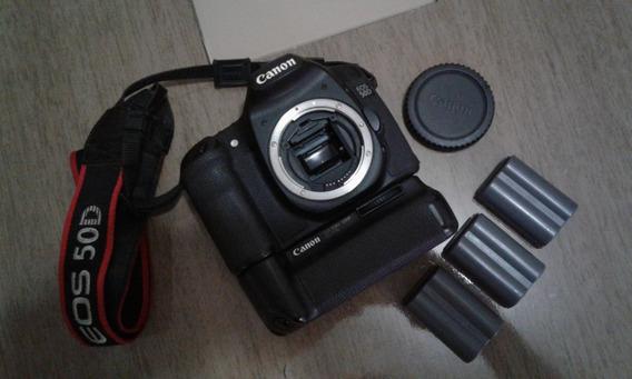 Camera Canon 50d + Grip E 3 Baterias - Venda Ou Troca
