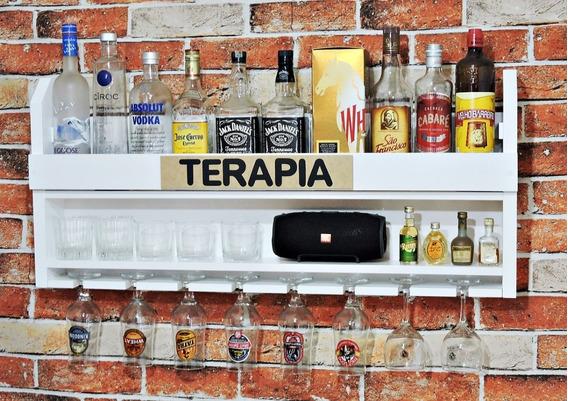 Prateleira Adega Suporte Vinhos Bebidas Cervejas Decoração