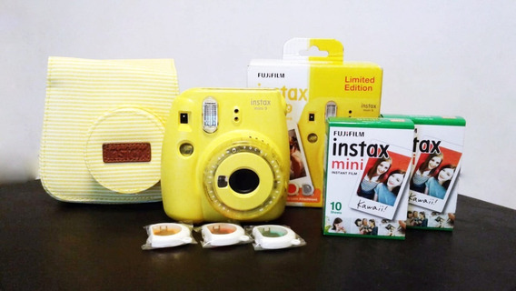 Camera Fuji Instax Amarela (kit)