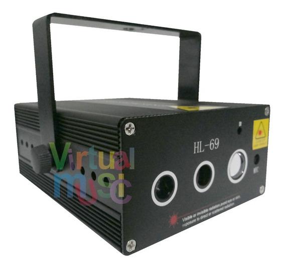 Laser Show Holografico Hl69 250mw Verde Vermelho + Led Azul