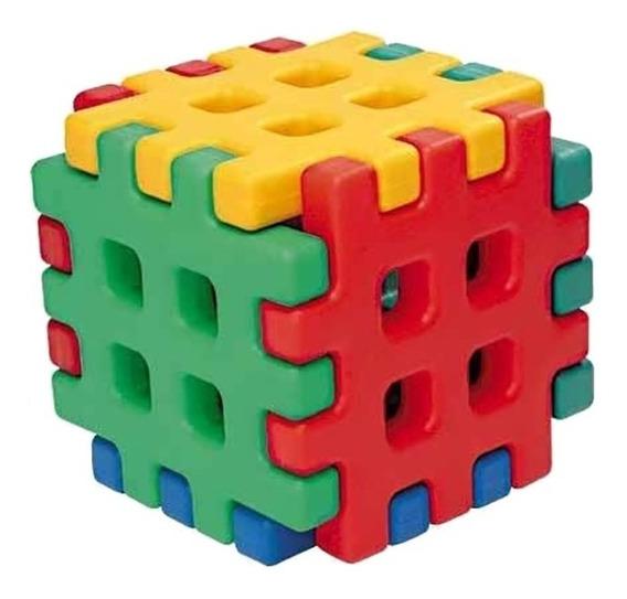 Brinquedo De Encaixar Monte Play Cubo Alpha Brinquedos