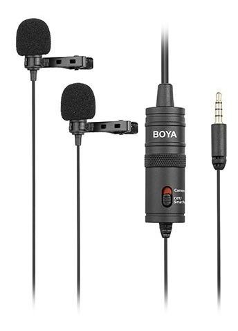 Microfone De Lapela Duplo Boya By - M1dm 2 Mic Original
