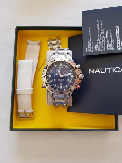 Relógio Nautica Azul Chronograph Original Importado