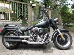 Harley Davidson Fat Boy 2009 Preta Fosca Com Doc 2019 Ok.