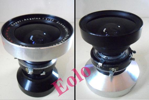 Lente Super Angulon 90mm Schneider Compur Grande Formato &