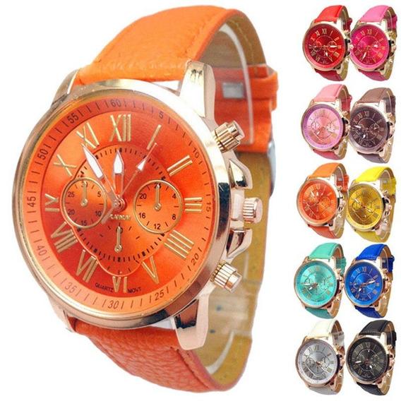 Relógios Feminino Pulseira Em Couro Pu Diversos Modelos