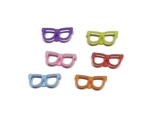 Kit Com 6 Marcadores Taça De Vinho Modelo Óculos