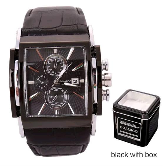 Relógio Casuais Puro Luxo Pulseira De Couro Original