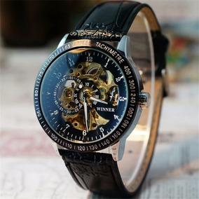 Relógio Masculino Automático Pulseira De Couro