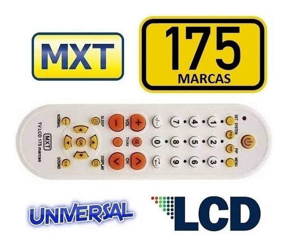 Controle Remotouniversal Lcd Mxt 175 Marcas Com Manual
