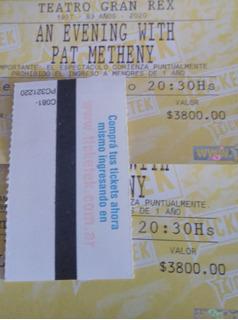 Entradas Plateas Pat Metheny Viernes 13