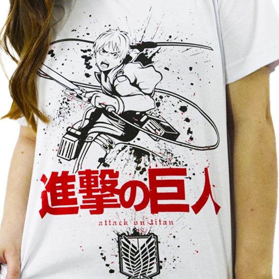 Camiseta Estilo Geek Anime Titan Hero