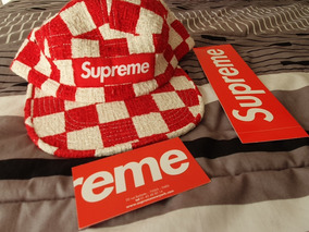 Supreme (original, Etiquetas) Checkerboard Boucle Camp Red