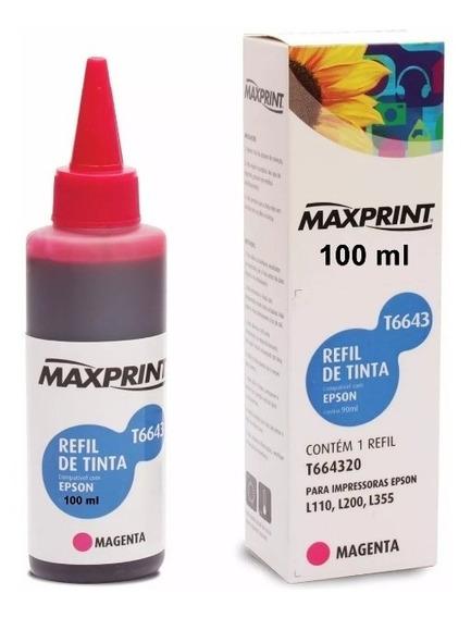 Refil De Tinta Maxprint Compatível Epson 100ml T664