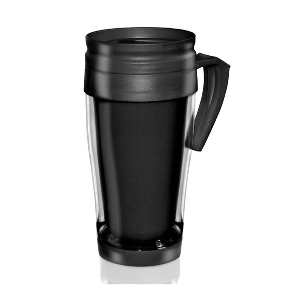 Jarro Vaso Termico Plastico Negro 400cm3 Frio / Calor