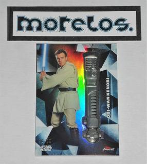 Star Wars Card Special Con Replica De Sable Laser De Obi-wan