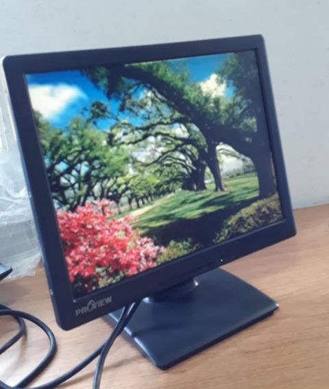 Monitor Proview Uk 513 Lcd 15 Polegadas + Cabos Cm Garantia