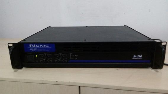 Amplificador 200wts Unic Zx200 Usada Perfeita