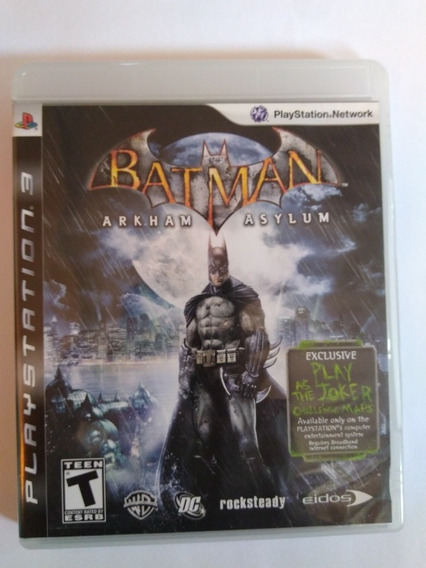 Jogo Batman Arkham Asylum Midia Fisica Ps3 R$39,9