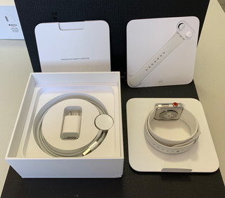 Apple Watch Séries 3 - 42mm + Gps + Aço + Vidro Safira