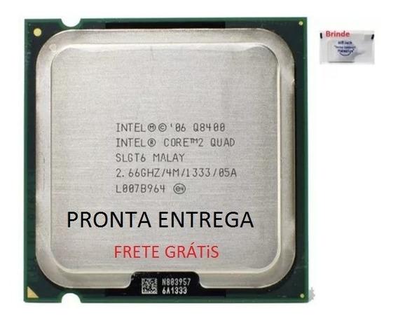Processador Intel 2quad Core Q8400 4m+ 2 Memórias Semi Novo