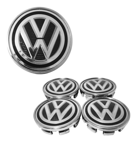 Kit Calotinha Centro De Roda Volkswagen 51mm - 4 Peças